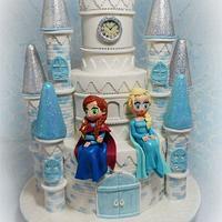 Frozen Princess Castle Cake