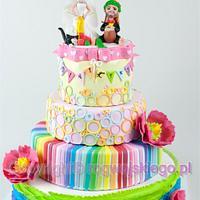 Colour & Reggae Wedding Cake / Kolorowy tort weselny z motywem reggae