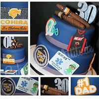 Favorite Things 30th Birthday Cake by Viviana & Guelcys