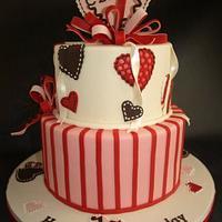 Heart Mobile Cake