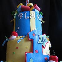 """One""derful 1st Birthday Cake"