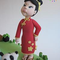 The angry little chinese girl