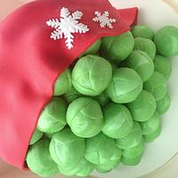 Brussels sprout Christmas cake