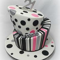 Topsy Turvy 21st Cake