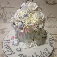 Giant cupcake wedding 60th birthday by Jemlewka's cupcakes