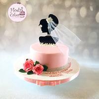Pinky Bridal Shower Cake 💖🌷