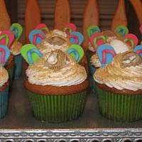Toes In the Sand Cupcakes by Becky Pendergraft