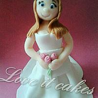 bride topper