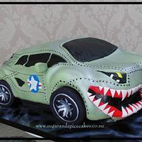 Lamborghini Spitfire Car cake