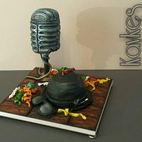 Stood mic and MADNESS themed cake xx