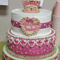 Baby Carriage Baby Shower Cake