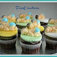 Sleeping Baby Cupcakes