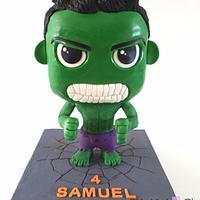 Chibi Hulk Cake