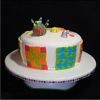 Sewing/Quilting Cake by Toni (White Crafty Cakes)