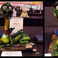 Errol the Swamp Dragon, My Silver award winning Cake International entry
