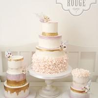 Watercolour wedding cakes