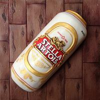 Stella Artois Beer Can Cake