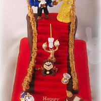 Beauty and the Beast staircase cake by The Bunny Baker