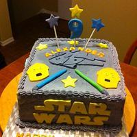 Boys Star Wars Theme Birthday Cake