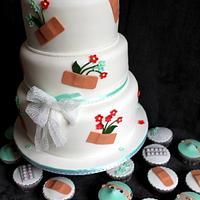 Sick cake and cupcakes