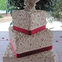 Square Scroll Cake