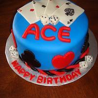 Poker Card Cake