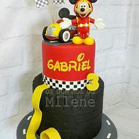 Mickey racers cake