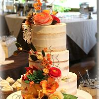 Fall Semi Naked Cake