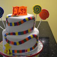 Candy land cake                                           by Cakesbylala