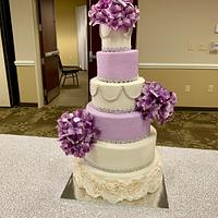 6 tiered wedding