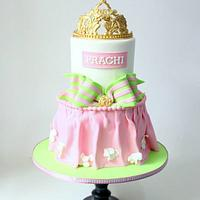 Pink And Green Princess Cake