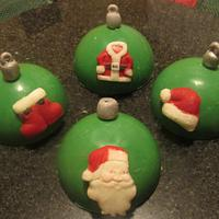 Christmas Ornament toppers for brownie bites and cupcakes