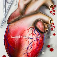 Human 3D Heart Cake