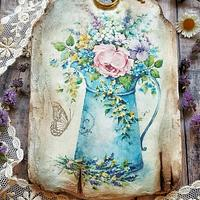 Wafer paper decoupage