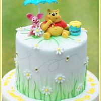 Winnie the Pooh baby shower by The Sugarpaste Fairy