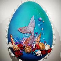 Huevo de Pascua Sirenita