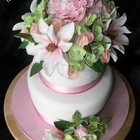 flowers cake by tortedinadia