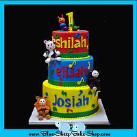 Baby Einstein 1st Birthday Cake