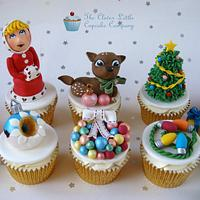 Vintage/Kitsch style Christmas cupcakes