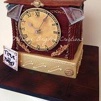 Working Clock Cake