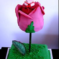 Baby shower rose cake