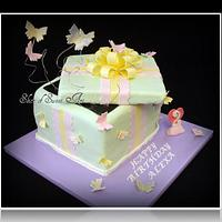 Butterfly Gift Box Birthday by Slice of Sweet Art