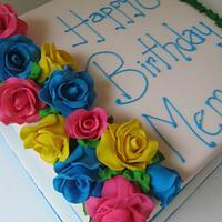 Spring rose 80th birthday cake by Denise Frenette
