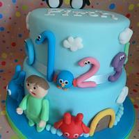 Baby TV theme Cake