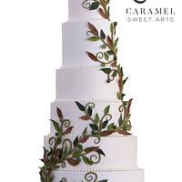 Leaves Wedding Cake