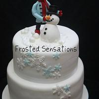 Winter themed cake by Virginia