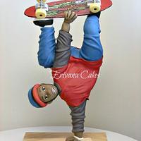 Gravity Defying Structure, Skateboarder cake
