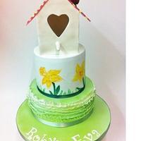 Birdhouse Christening Cake