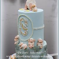 Birthday double barrel cake.