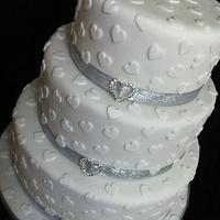 My first wedding cake  by Kayleigh